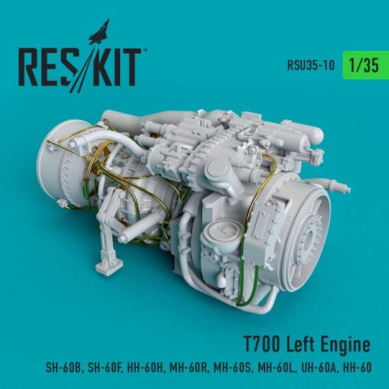 Reskit RSU35-0010 - 1/35 T700 Left Engine  (SH-60B, SH-60F, HH-60H, MH-60R...)
