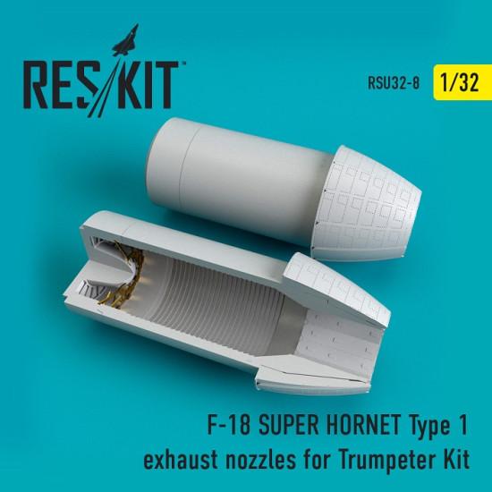 Reskit RSU32-0008 - 1/32 F-18 (E/G) SUPER HORNET Type 1 exhaust nozzles model