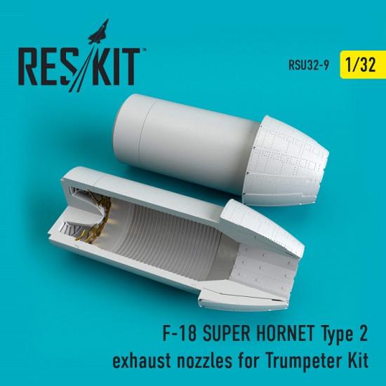 Reskit RSU32-0009 - 1/32 F-18 (E/G) SUPER HORNET Type 2 exhaust nozzles model