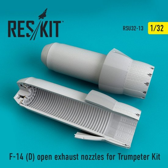 Reskit RSU32-0013  - 1/32 F-14 (D) open exhaust nozzles for Trumpeter Kit model