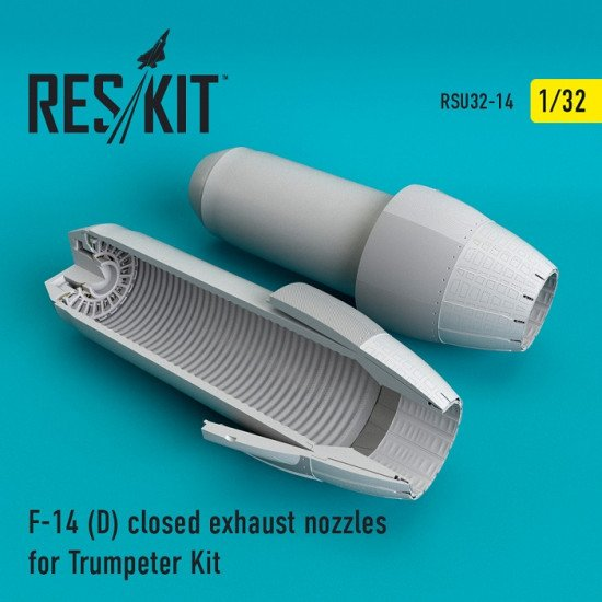 Reskit RSU32-0014  - 1/32 F-14 (D) closed exhaust nozzles for Trumpeter model