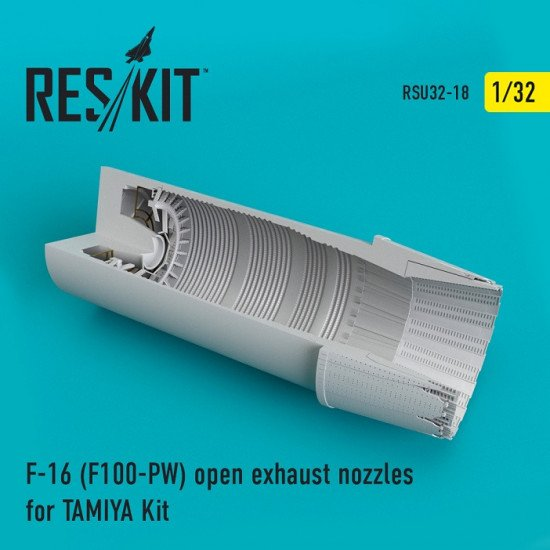 Reskit RSU32-0018  - 1/32 F-16 (F100-PW) open exhaust nozzles for TAMIYA Kit