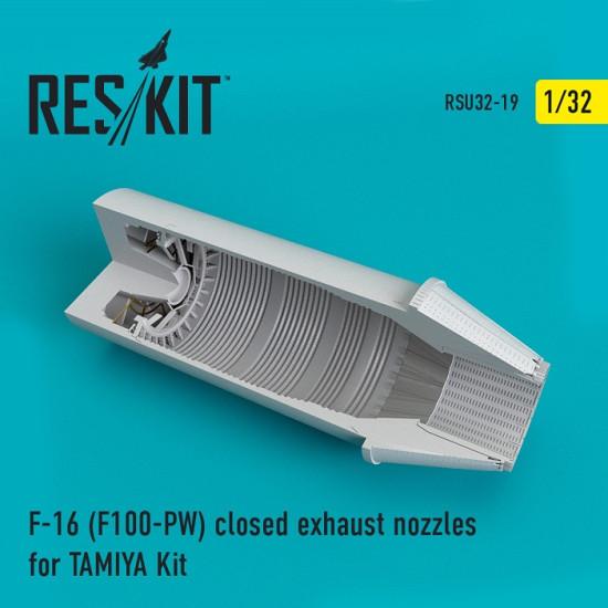 Reskit RSU32-0019 - 1/32 F-16 (F100-PW) closed exhaust nozzles for TAMIYA Kit