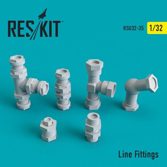 Reskit RSU32-0035 - 1/32 Line Fittings scale plastic model kit (Upgrade set)