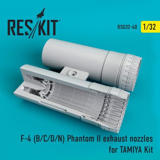 Reskit RSU32-0040 - 1/32 F-4 (B/C/D/N) Phantom exhaust nozzles for TAMIYA Kit
