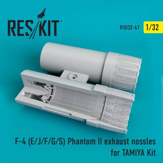 Reskit RSU32-0041 - 1/32 F-4 (E/J/F/G/S) Phantom II  exhaust nossles for TAMIYA