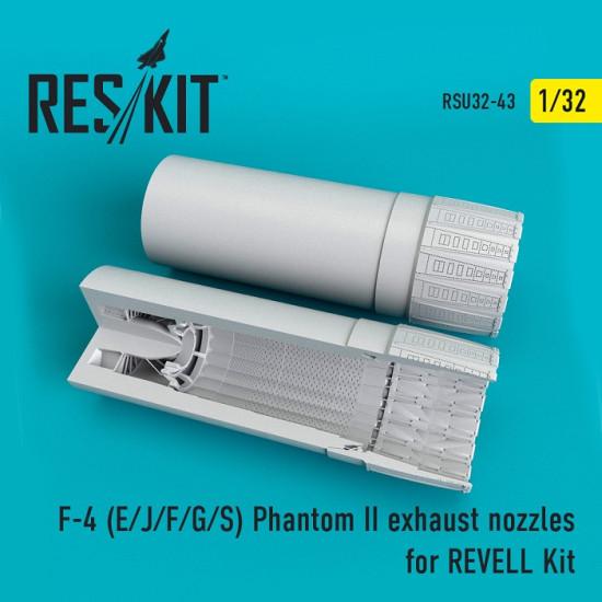 Reskit RSU32-0043 - 1/32 F-4 (E/J/F/G/S) Phantom II exhaust nozzles for REVELL