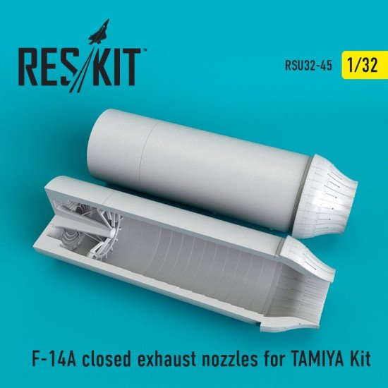 Reskit RSU32-0045 - 1/32 F-14A closed exhaust nozzles for TAMIYA Kit model scale