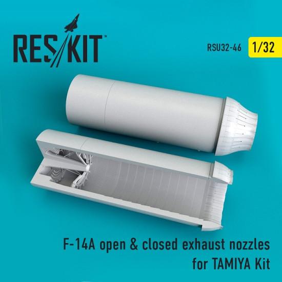 Reskit RSU32-0046 - 1/32 F-14A open & closed exhaust nozzles TAMIYA Kit model