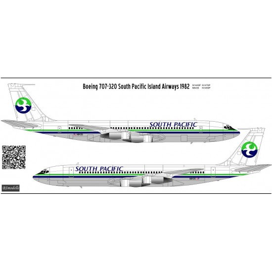 BSmodelle 144489 - 1/144 Boeing 707 SPIA decal for aircraft model scale kit