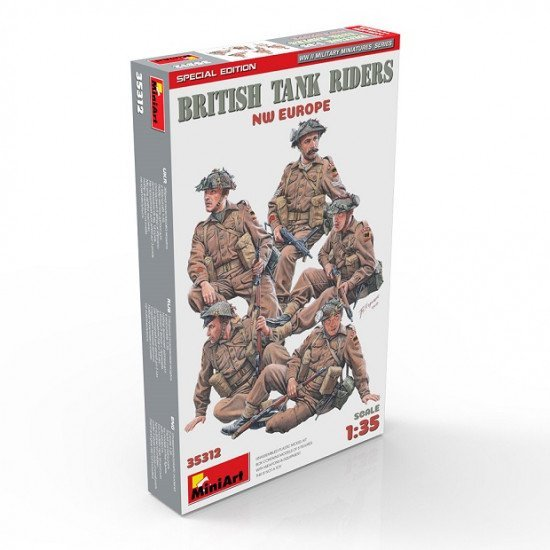 Miniart 35312 - 1/35 British tank Riders. NW Europe special edition scale model