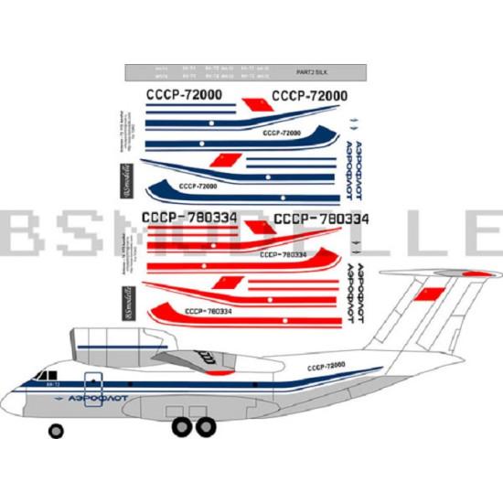 BSmodelle 72029 - 1/72 Antonov An-72(74) Aeroflot decal for aircraft model scale