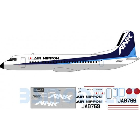 BSmodelle 72031 - 1/72 NAMC YS-11 AIR NIPPON decal for aircraft model scale kit