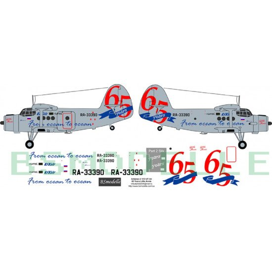 BSmodelle 72032 - 1/72 Antonov An-2 Ut Air decal for aircraft model scale kit
