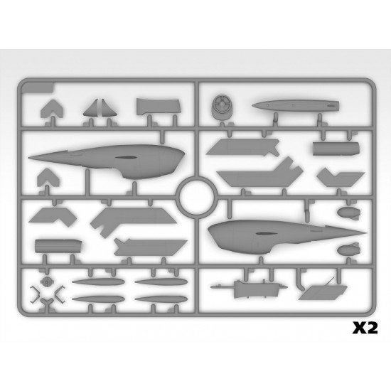 ICM 48402 - 1/48 KDA-1(Q-2A) Firebee US Drone scale model plastic kit