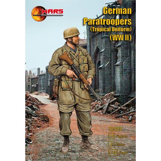 Mars Figures 32029 - 1/32 German Paratroopers (Tropical Uniform) WWII model kit