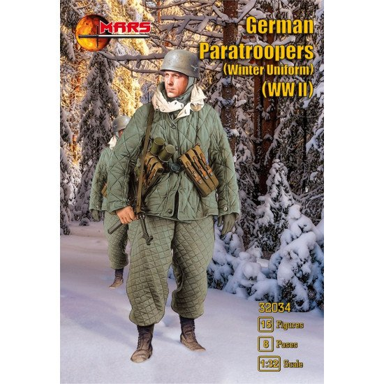 Mars Figures 32034 - 1/32 German Paratroopers (Winter Uniform) WWII model kit