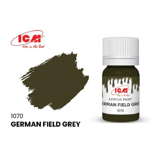 ICM 1070 - Acrylic paint, German Field Grey. Volume, ml: 12. Waterproof