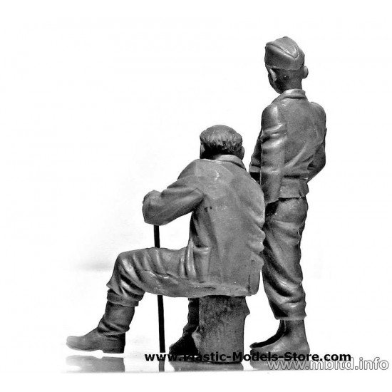 Citizentry. Citizens. Civilians East European WWII 1/35 Master Box 3588