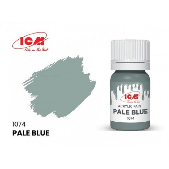 ICM 1074 - Acrylic paint, Pale Blue. Volume, ml: 12. Waterproof
