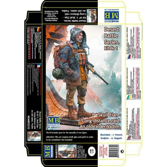 Master Box 35213 1/35 An old raider. Vadim. Skull Clan. Post-apocalyptic. Kit 1