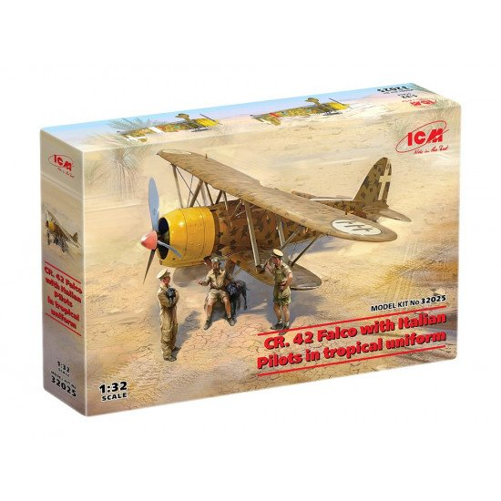 ICM 32025 - 1/32 CR. 42 Falco with Italian Pilots in tropical uniform scale kit