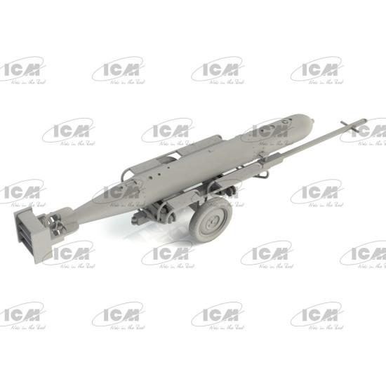 ICM 48404 - 1/48 scale German Torpedo Trailer, plastic model kit WWII