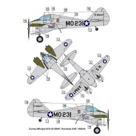 Dora Wings 48043 - 1/48 Curtiss-Wright AT-9 Jeep, scale plastic model kit