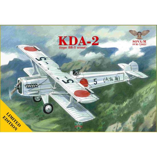 Sova Model 72021 - 1/72 - KDA-2 (Type 88-1 Scout) scale plastic model aircraft