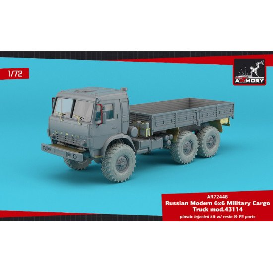 Armory AR72448-R 1/72 Russian Modern 6x6 Military Cargo Truck mod.43114, LIMITED