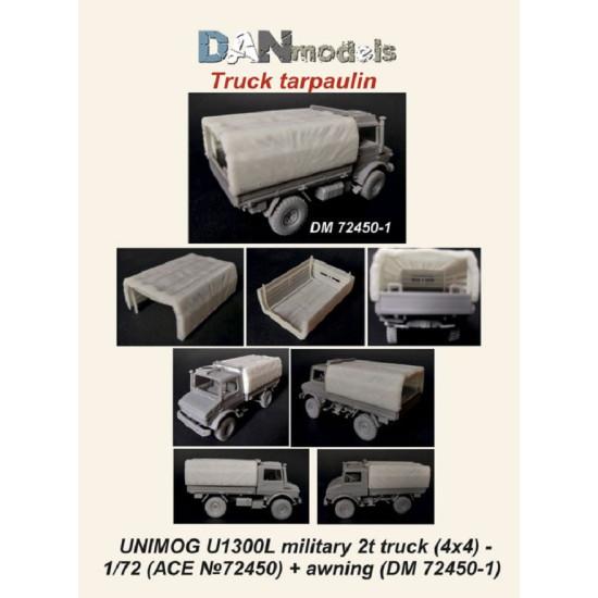 Dan Models 72450-1 - 1/72 UNIMOG U1300L miltary 2t truck (ACE 72450), tarpaulin
