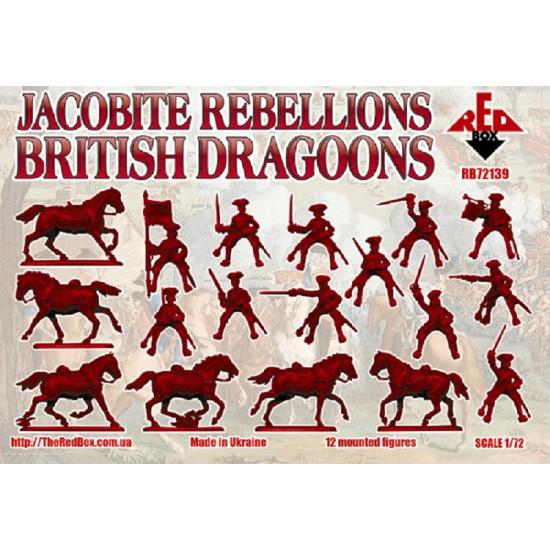 Bundle Red Box Jacobite Rebellion British dragoons regiments of Horse 1745 1/72