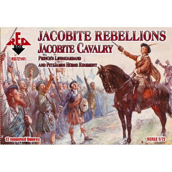 Red Box 72141 1/72 Jacobite Rebell. Caval.Prince's Lifeguard, FitzJames Regiment