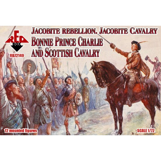 Red Box 72149 1/72 Jacobite Rebell. Cavalry. Bonnie Prince Charlie Scot. Cavalry