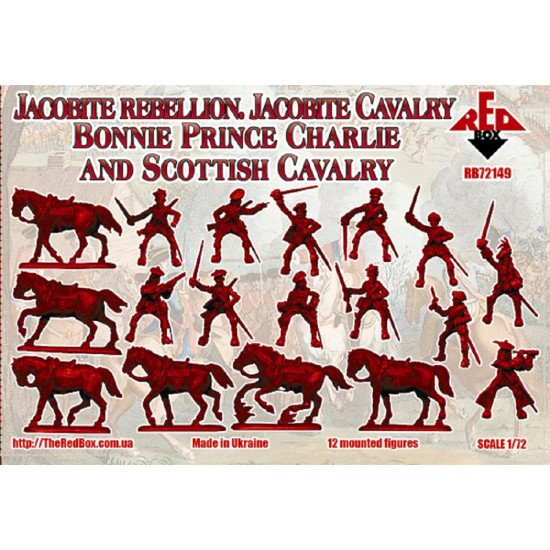 Bundle lot of Red Box 72141 + 72149 Jacobite Rebell. Cavalry. 1/72