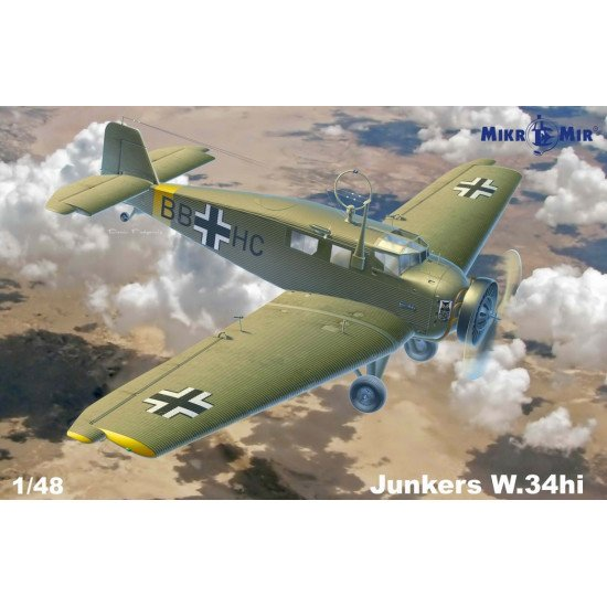 Mikro Mir 48-019 - 1/48 - Junkers W.34hi with 3D decals, scale model kit