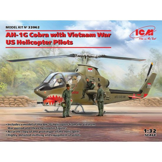 ICM 32062 - 1/32 - AH-1G Cobra with Vietnam War US Helicopter Pilots scale model