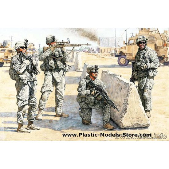 US Check Point in Iraq 4 fig. 1/35 Master Box 3591