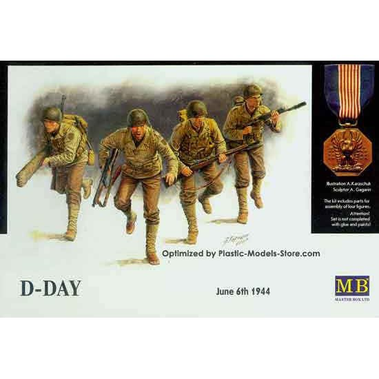D-Day, 6th June 1944 Omaha beach 1/35 Master Box 3520
