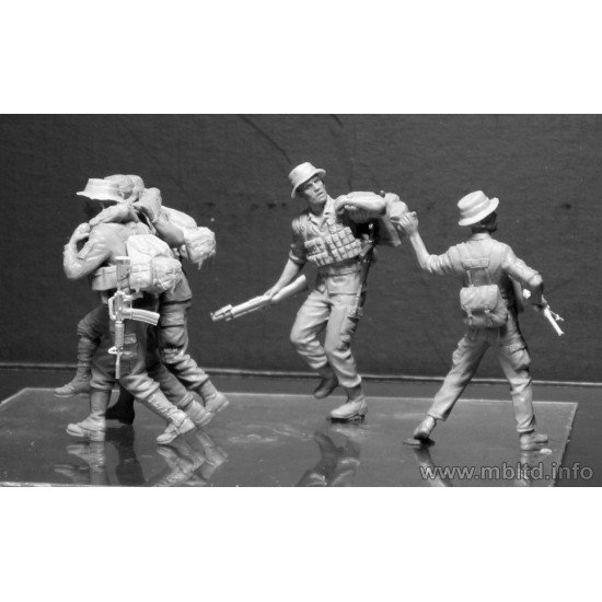 Head for the Huey, Vietnam War series 5 figures 1/35 Master Box 35107