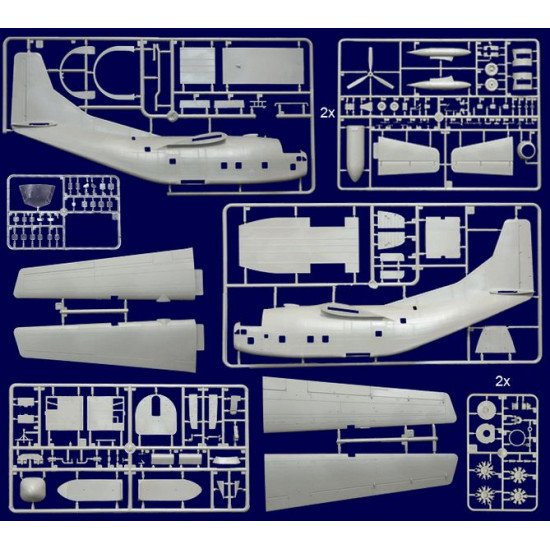Plastic Model Aircraft Building Kit Fairchild C-123B Provider 1/72 Roden 056
