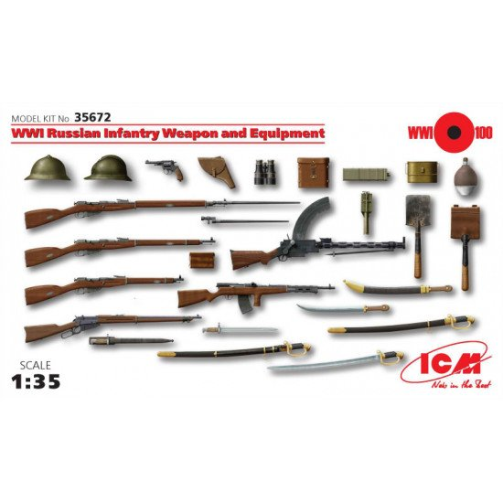 Russian Infantry weapon and equipment WWI 1/35 ICM 35672