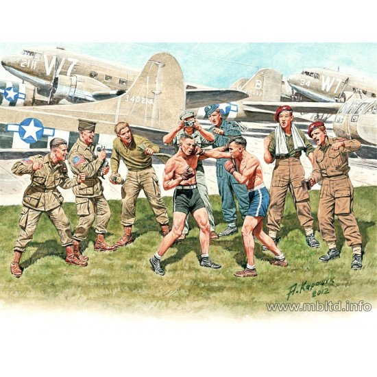 Friendly boxing match. British and American paratroopers 1/35 Master Box 35150