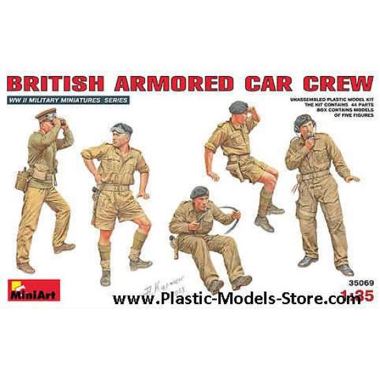BRITISH ARMORED CAR CREW 5 fig. 1/35 Miniart 35069