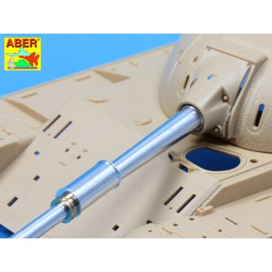 Israeli 105mm M-68 tank barrel for TIRAN 5 (variant B), for Tamiya 1/35 Aber 35-L144