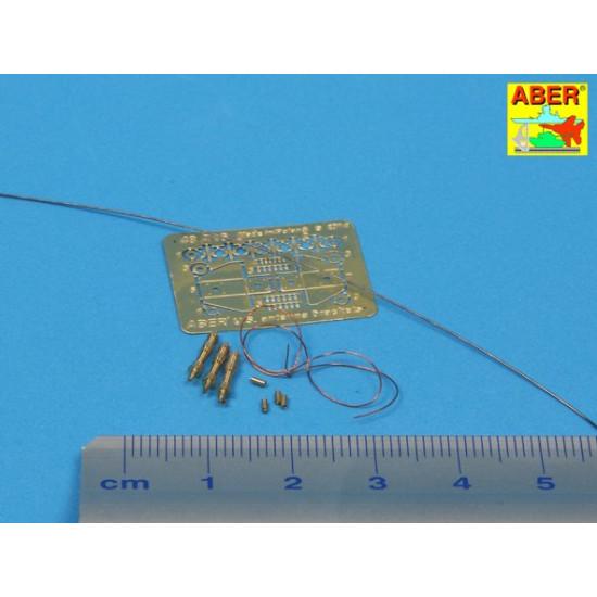 US antenna and brackets (set of 3 pcs) 1/48 Aber 48-A26
