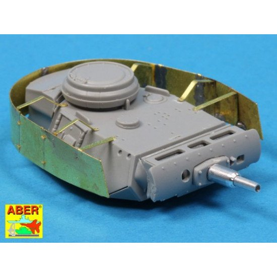 Turret skirts for PzKpfw.III 1/72 Aber 72-A10