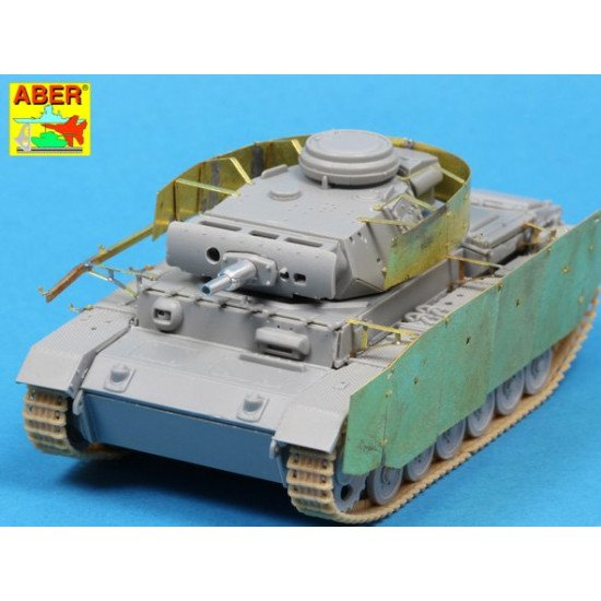 Side skirts for PzKpfw.III, for Dragon 1/72 Aber 72-A09