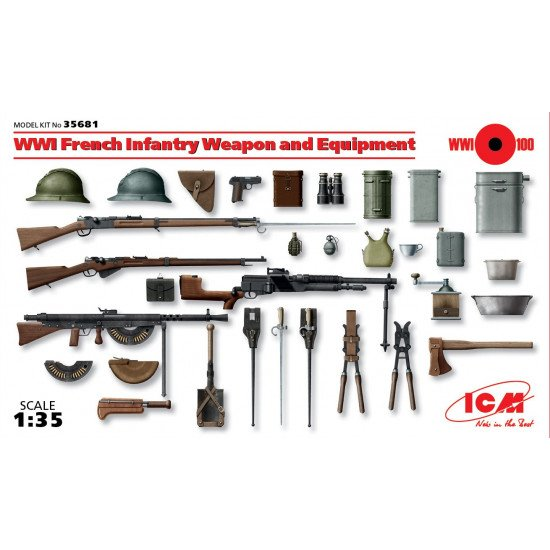 WWI French infantry weapon and equipment 1/35 ICM 35681