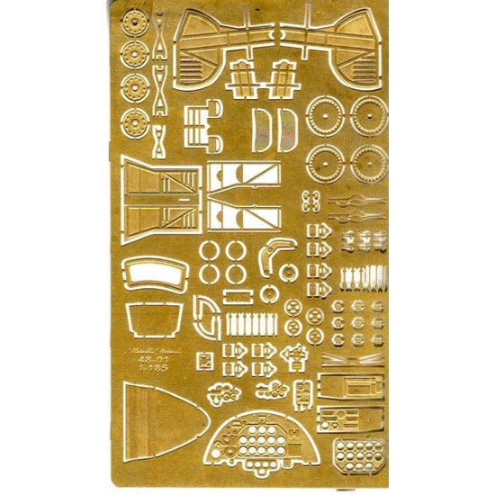 Photoetching for an airplane Polikarpov I-185 1/48 Metallic Details 4801